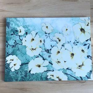 White Blossoms Canvas Print Picture